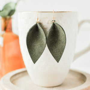 Olive Suede Hazel Earrings