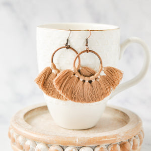 Camel Tassel Tuscany Earrings