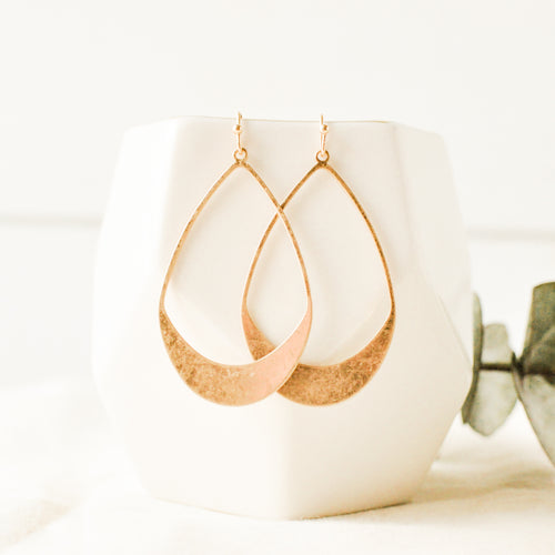 Brushed Gold Ivy Earrings