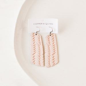 Blush Woven Aria Earrings