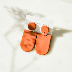 Terracotta Everly Clay Earrings