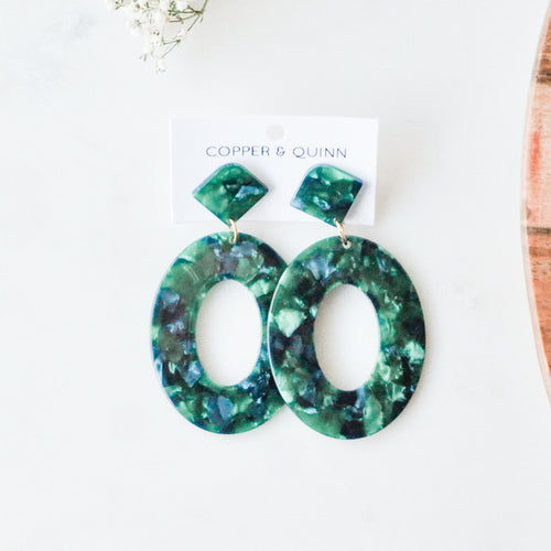 Jade Amelie Statement Earrings