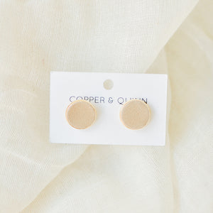 Beige Leather Studs