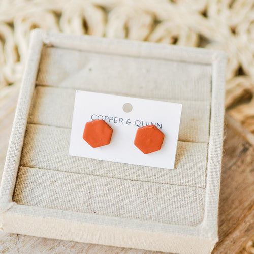 Terracotta Clay Studs