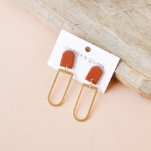 Load image into Gallery viewer, Terracotta Riley Clay Earrings