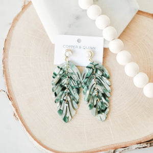 Palm Leaf Dangle Earrings