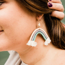 Load image into Gallery viewer, Rainbow Woven Arch Earrings