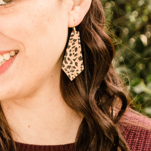 Cheetah Cork Elysia Earrings