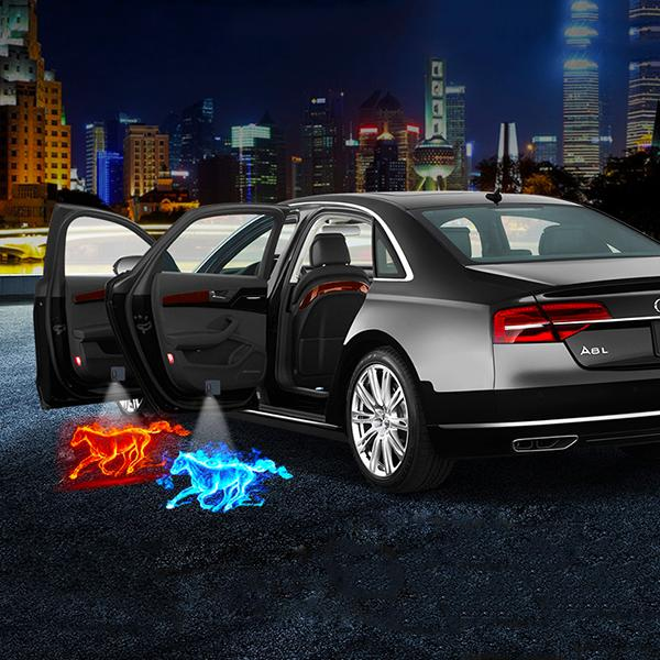 (Black Friday Promotion)-Universal Wireless  LED Car Logo Welcome Light (1pc) - Qoozan Online Store