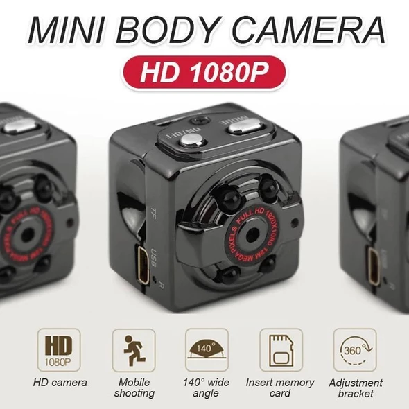 2019 Upgrade HD 1080P MINI BODY MOTION ACTIVATED CAMERA - Kikiboom Online Store