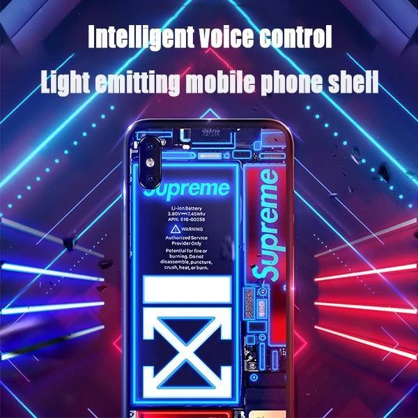 High-tech incoming call & Voice-activated illuminated mobile phone case - Qoozan Online Store