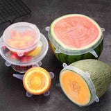 (MORE CHEAPER THAN OTHER STORE !!) Zero-Waste Reusable Food and Container Lids - 6pcs