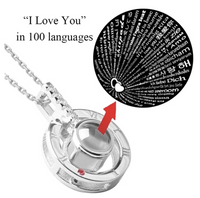 "100 Languages ""I LOVE YOU"" Necklace,Ring"