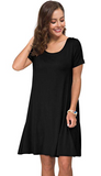 (MORE CHEAPER THAN OTHER STORE !!!)Women's Summer Casual T Shirt Dresses Short Sleeve Swing Dress with Pockets