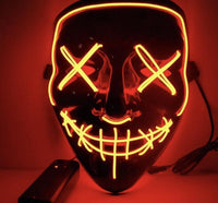 Halloween Hot Sale-Party & Rave Glow Mask-(Buy 3 Get 10% OFF)