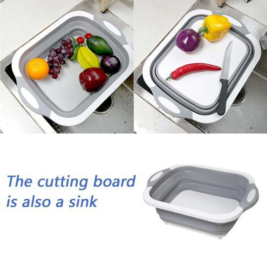 Multi-Function Kitchen Chopping Block Tool, Foldable Cutting Board