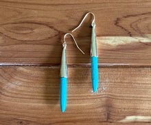 Load image into Gallery viewer, Turquoise Spike Earrings