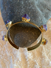 Load image into Gallery viewer, Raw Amethyst cuff Bracelet