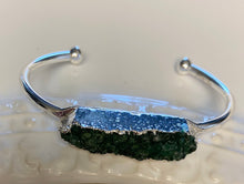 Load image into Gallery viewer, Green Druzy Cuff