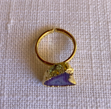 Load image into Gallery viewer, Purple Geode Ring