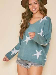 The Sage Silver Sweater