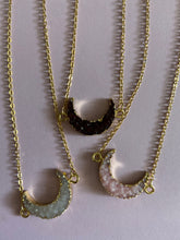 Load image into Gallery viewer, Druzy Moon Necklaces