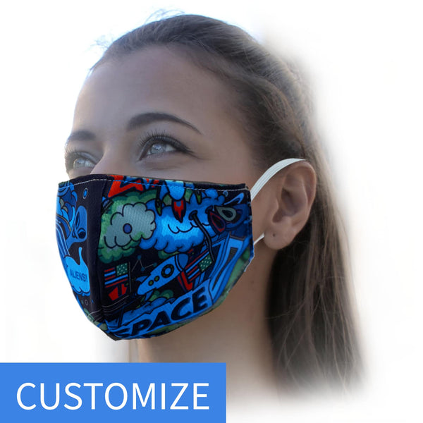Custom Printed 3 Layer Mask