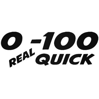 0 To 100 Real Quick Jdm Japanese Vinyl Decal Sticker