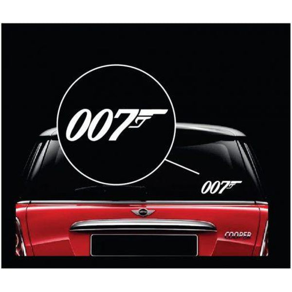007 James Bond Window Decal Sticker