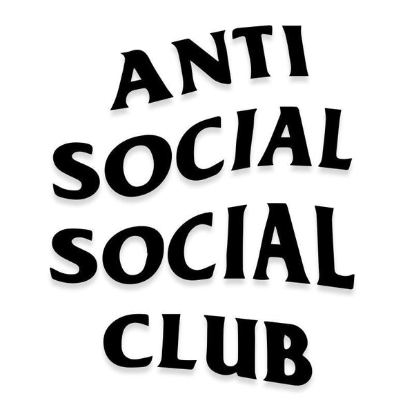 Anti Social Club Logo Decal Sticker