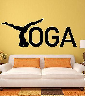 Yoga Wall Stickers Zen Healthy Lifestyle Woman Girl Meditation Vinyl