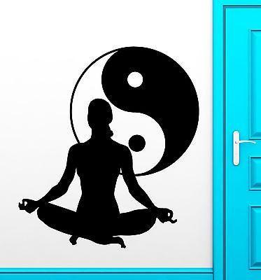 Yoga Vinyl Decal Zen Meditation Health Yin Yang Tai Chi Wall