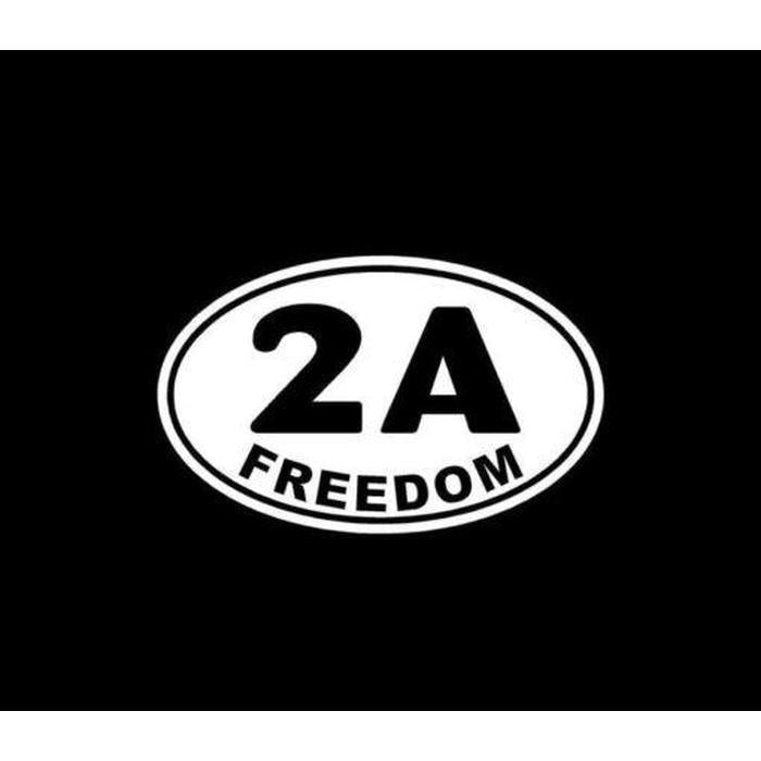 2nd Amendment Freedom Oval 2A Window Decal Stickers