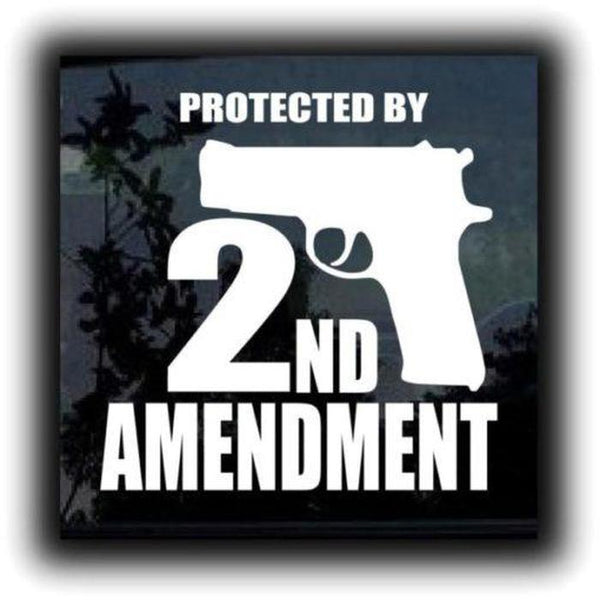 2nd amendment gun Window Decal Stickers