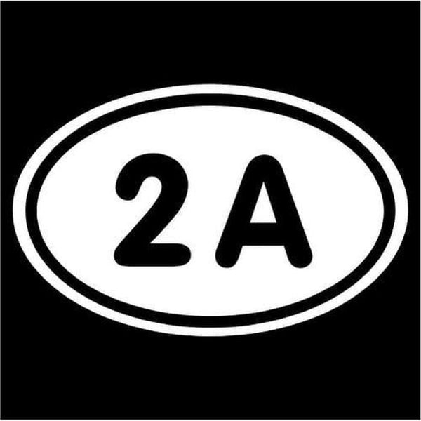 2nd amendment oval Window Decal Stickers