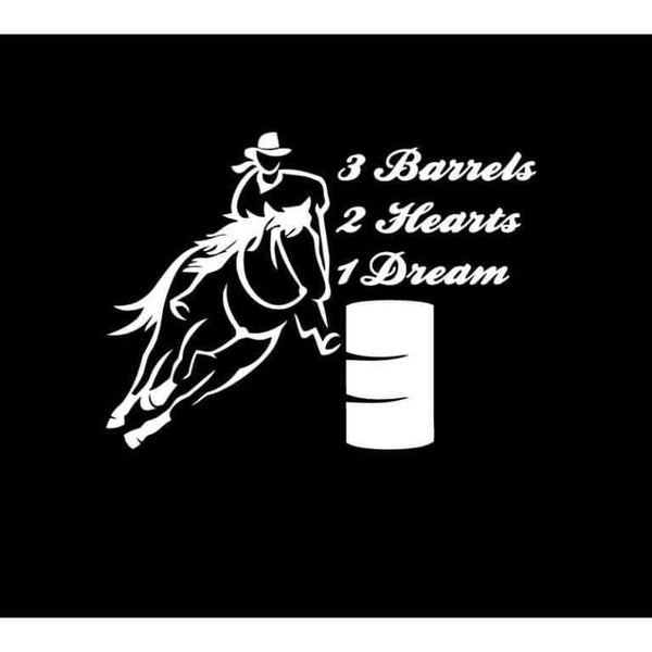 3 Barrels 2 Hearts 1 Dream Truck Decal Sticker