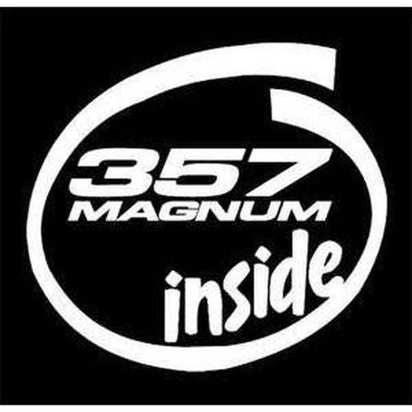 357 magnum inside Truck Decal Sticker