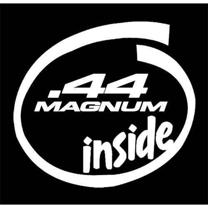 44 magnum inside Hunting Window Decal Sticker