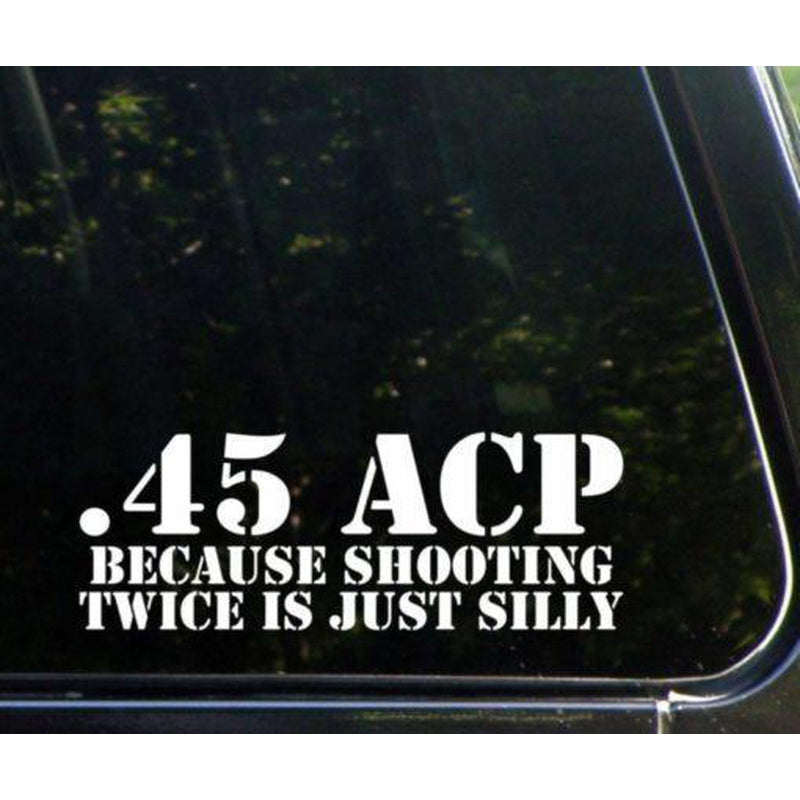 45 ACP Military Window Decal Stickers