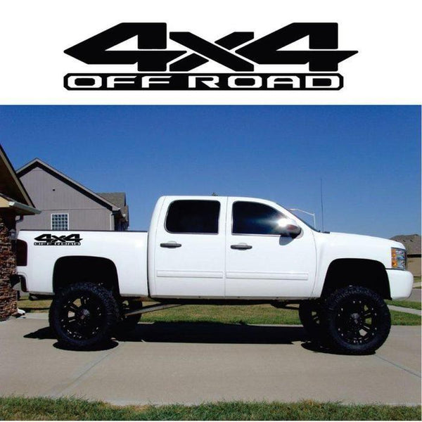 4×4 Off Road Sticker Set of 2 a17 – Ford Ford Chevy Dodge Toyota – 4×4 Decals