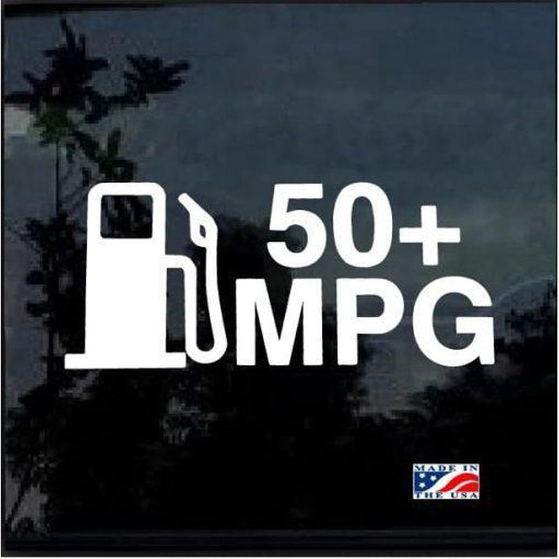 50 mpg hybrid prius EV TDI JDM Car Window Decal Stickers