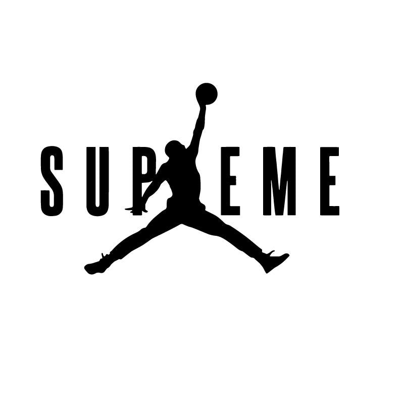 Supreme Jumpman Jordan Logo Decal Sticker