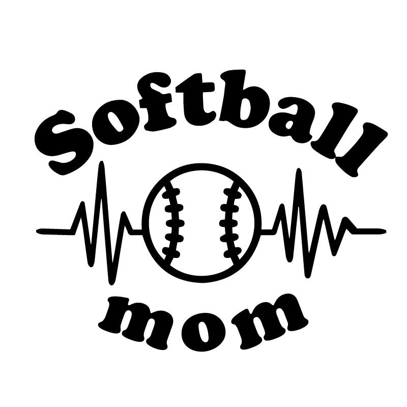 Softball Mom Baseball Lifeline Decal Sticker