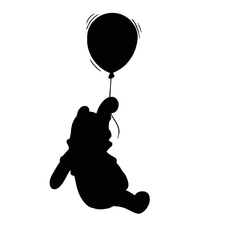 Winnie the Pooh Balloon Hanging Decal Sticker