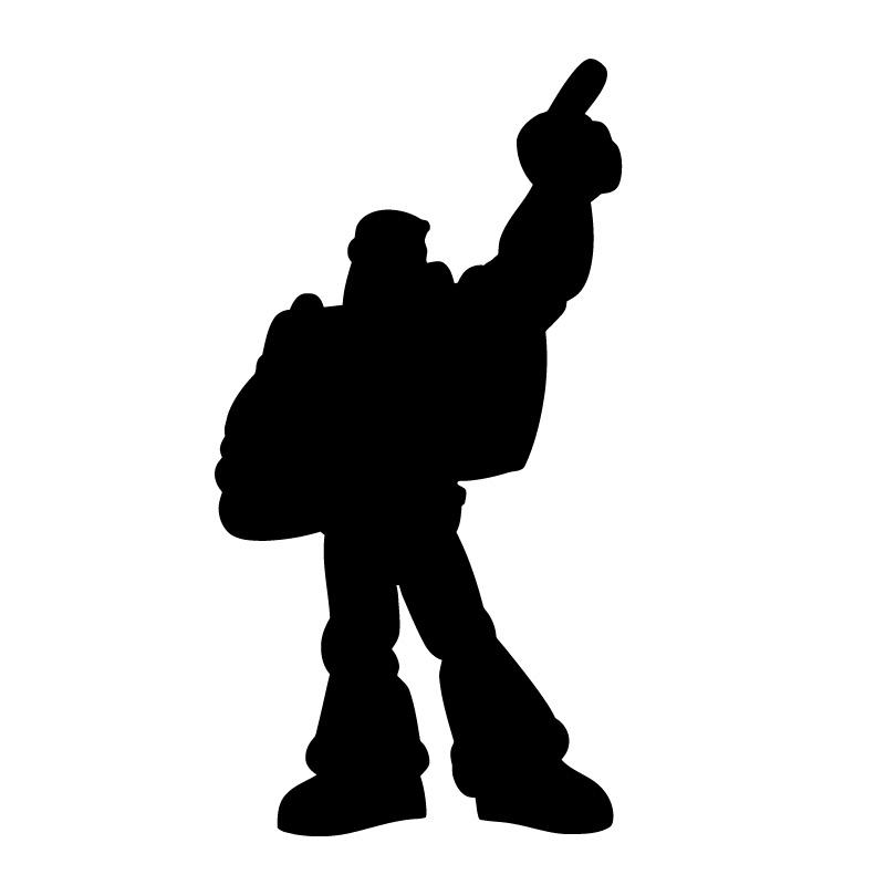 Toy Story Buzz Lightyear Posing Decal Sticker
