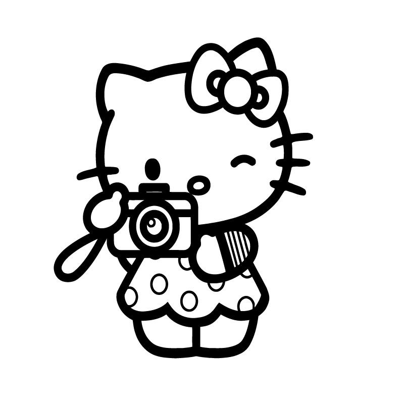 Hello Kitty Camera Photography Decal Sticker
