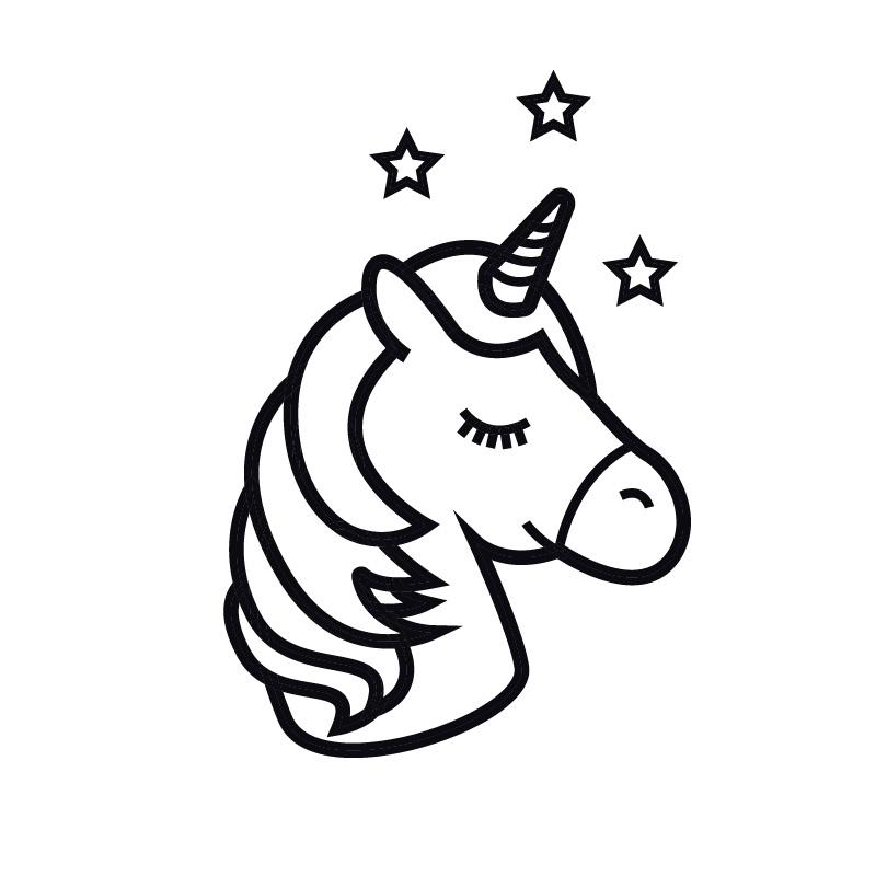 Cartoon Unicorn Decal Sticker