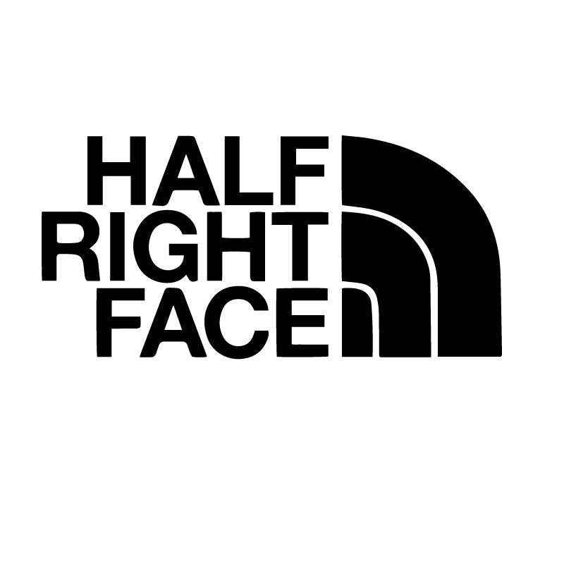 Half Right Face Decal Sticker