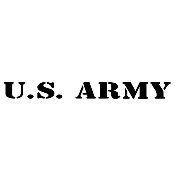 US Army Military Logo Font Decal Sticker