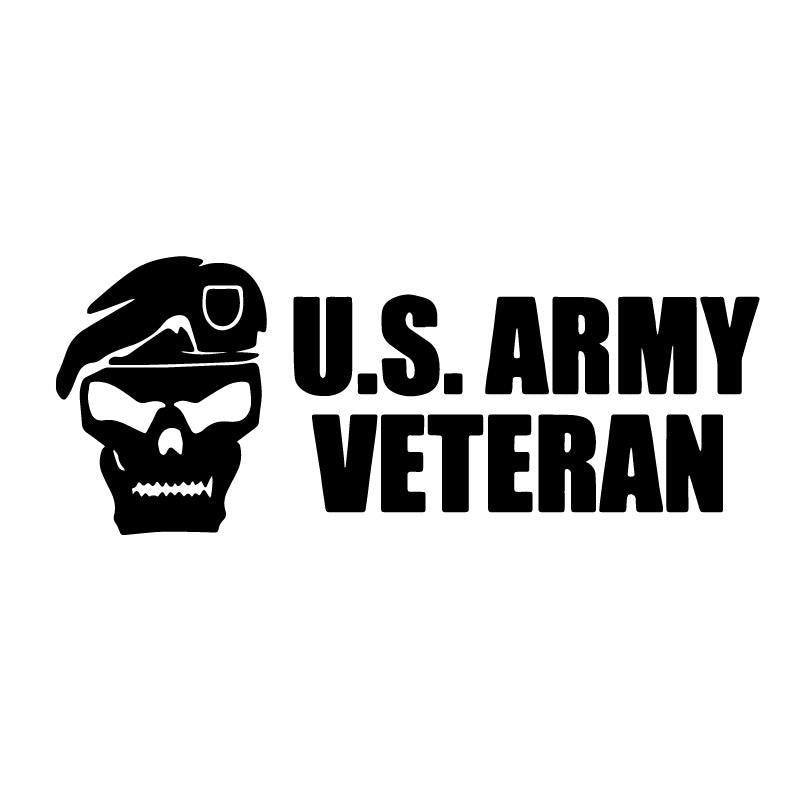 US Army Veteran Soldier Skull Decal Sticker